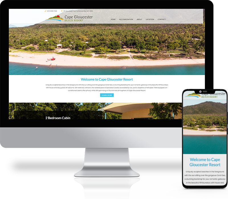 Cape Glouster Resort Website Design