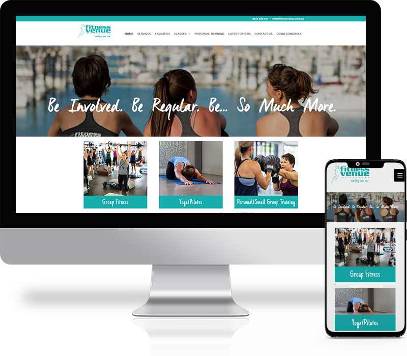Fitness Venue Website Design