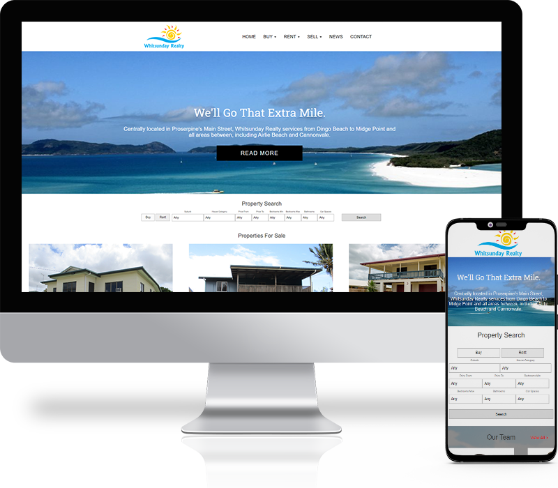 Whitsunday Realty Website Design