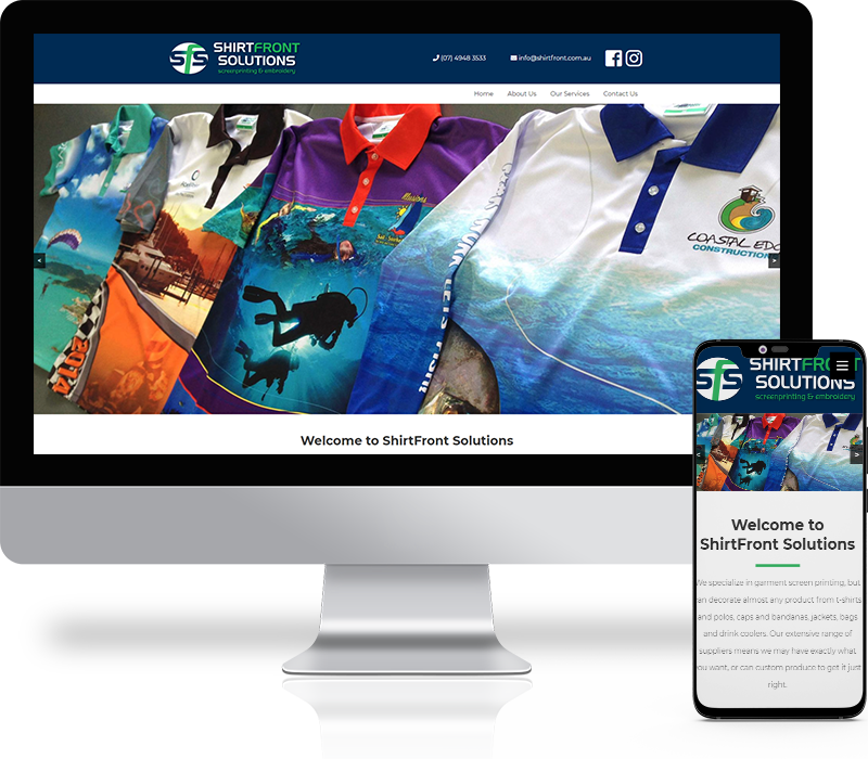 Shirtfront Solutions Website Design